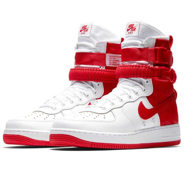 nike sf air force 1 white red ar1955_100 купить