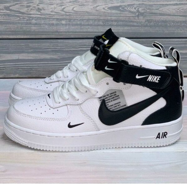 nike air force 1 mid 07 lv8 white black 804609_103 купить