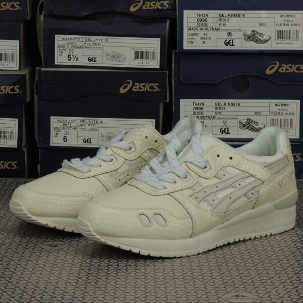 asics gel lyte lll 3 all white H52EK_0101 купить