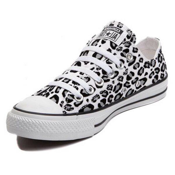Converse Chuck Taylor All Star leopard black white купить
