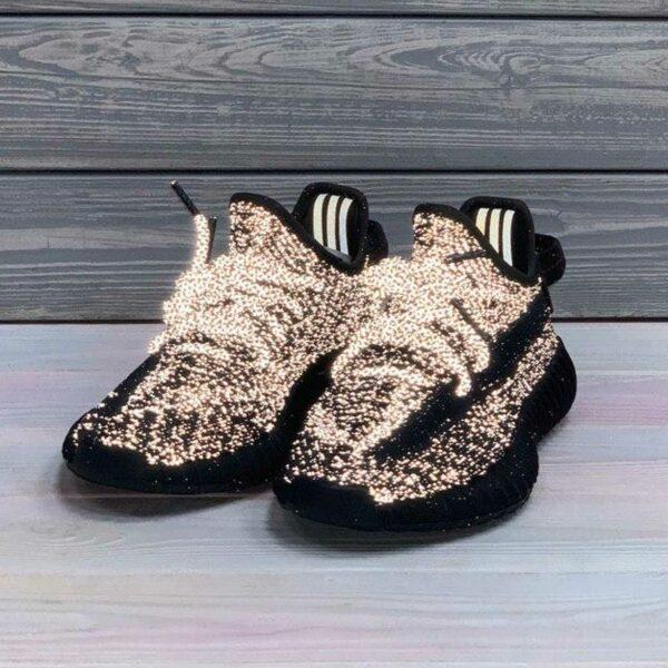 adidas yeezy boost 350 V2 reflective black static fu9007 купить