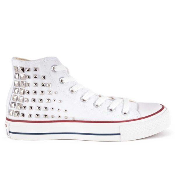 converse all stars white silver hight интернет магазин
