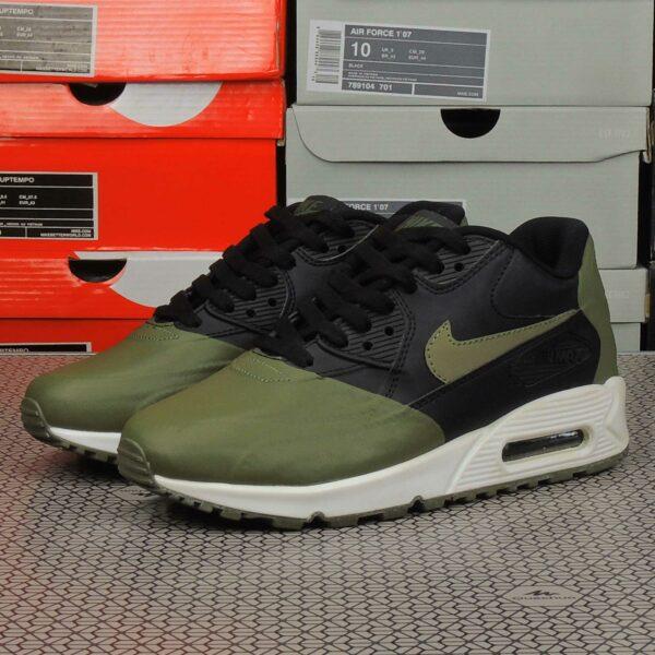 nike air max 90 premium se black green 858954_005 купить