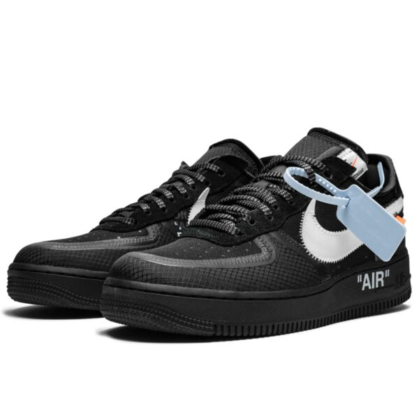 off white x nike air force 1 low black AO4606_001 купить