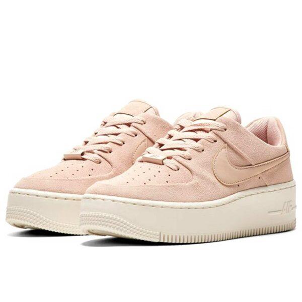 nike air force 1 sage low pink white купить