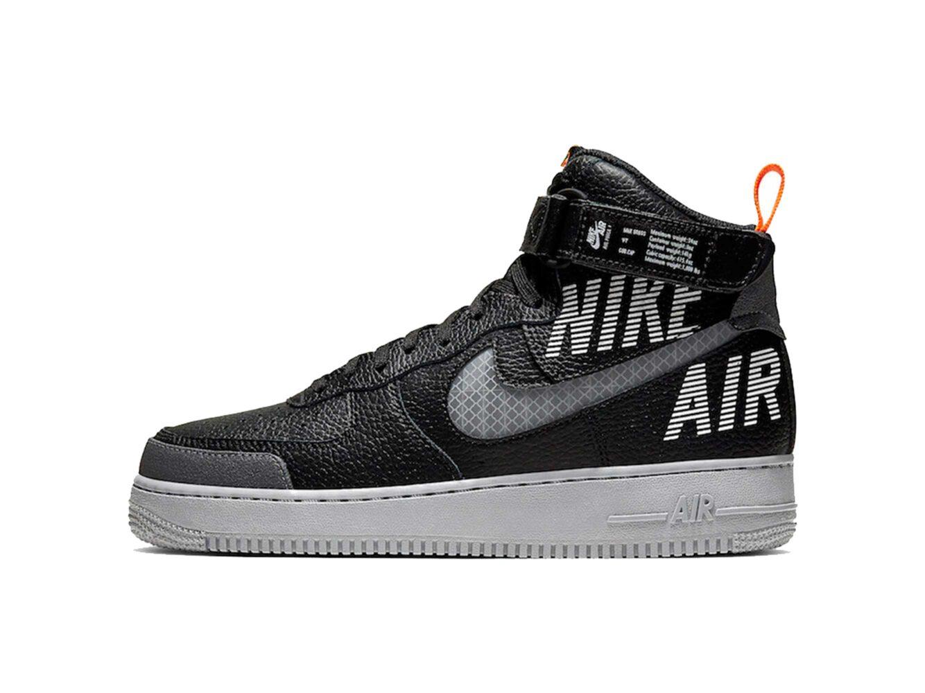 nike air force 1 high black grey CQ0449_001 купить