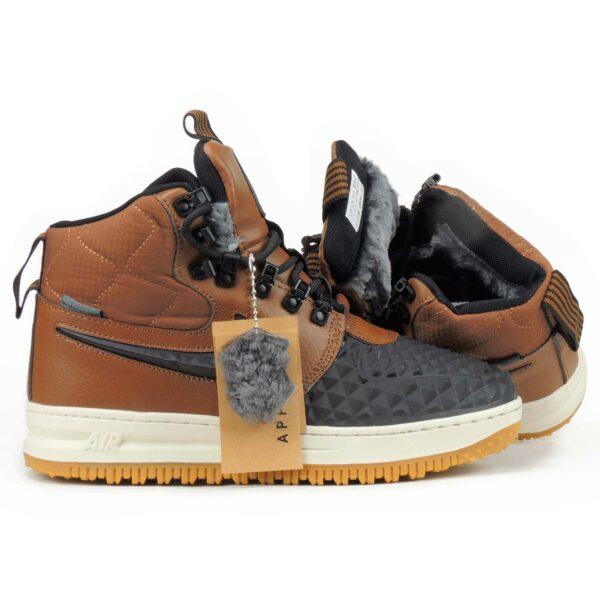 nike air force duckboot brown winter купить