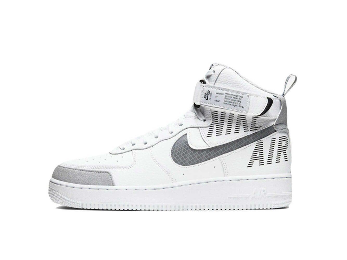 nike air force 1 high white grey CQ0449_100 купить