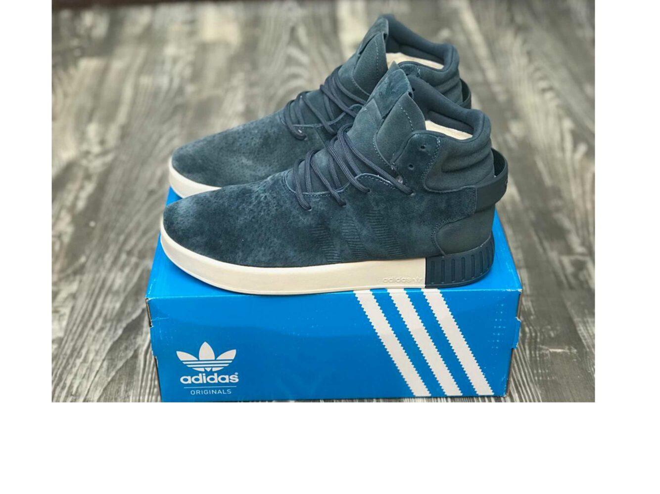 adidas tubular blue winter купить