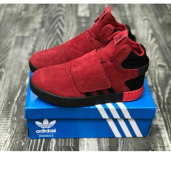 adidas tubular red black winter купить