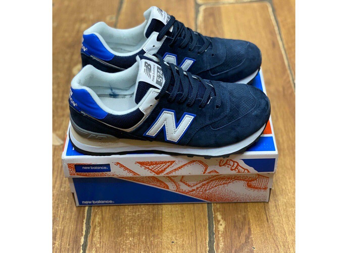 new balance 574 blue купить