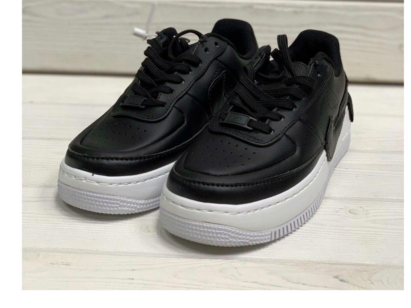 nike air force 1 low black white купить