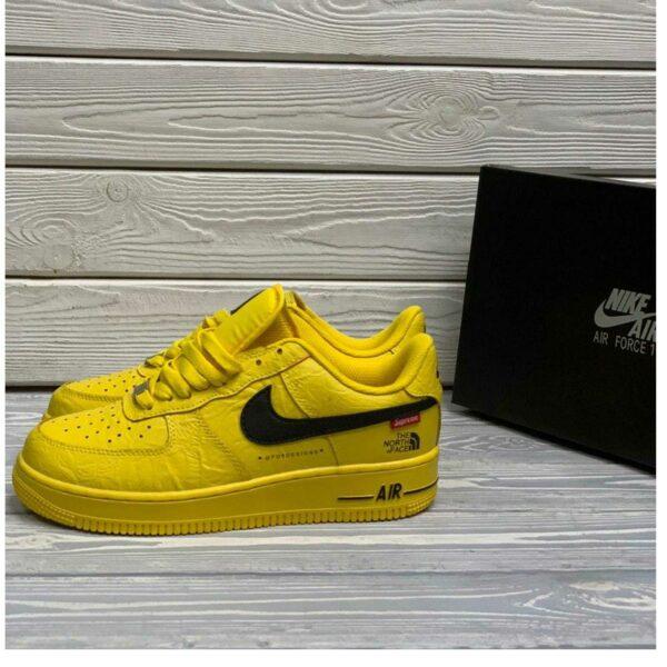 nike air force 1 low supreme north face yellow купить