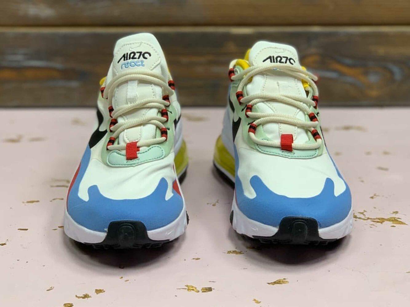 nike air max 270 react white blue AT6174_002 купить