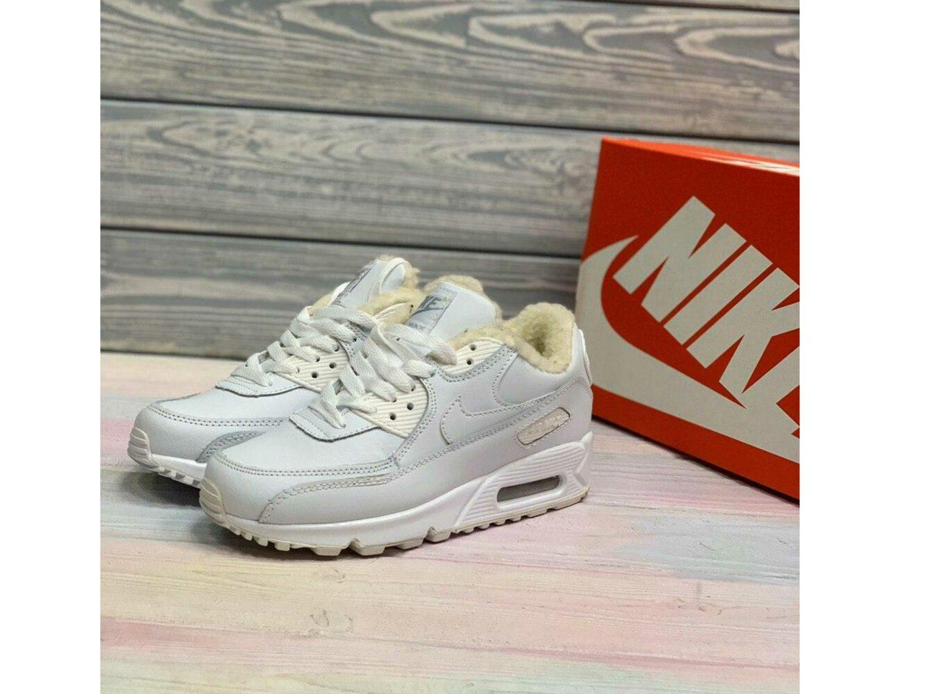 nike air max 90 LTR all white winter купить