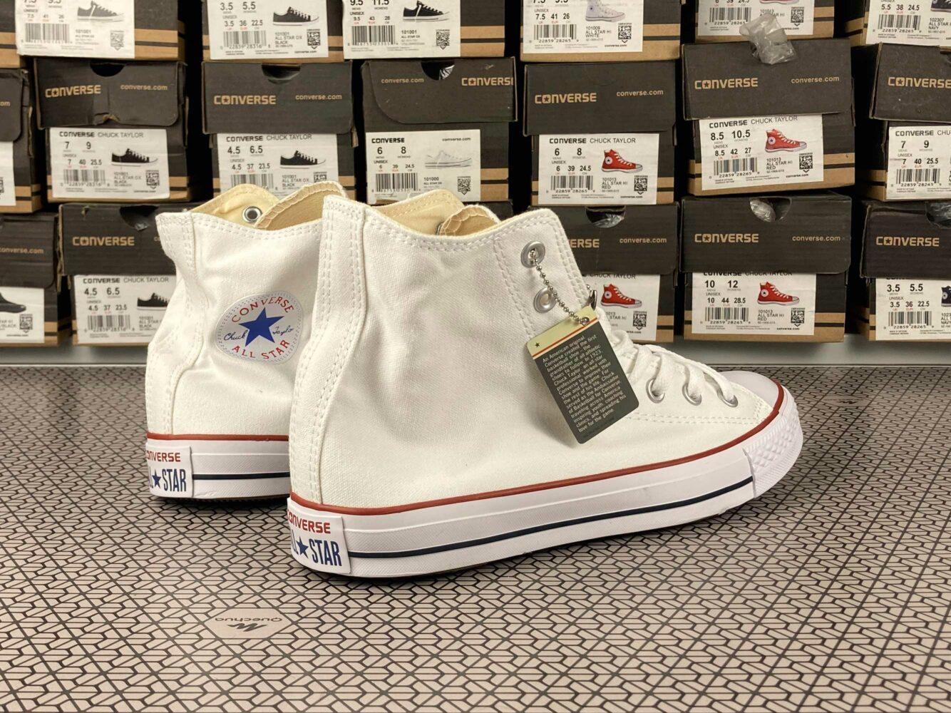 converse all star hi white X7650 купить
