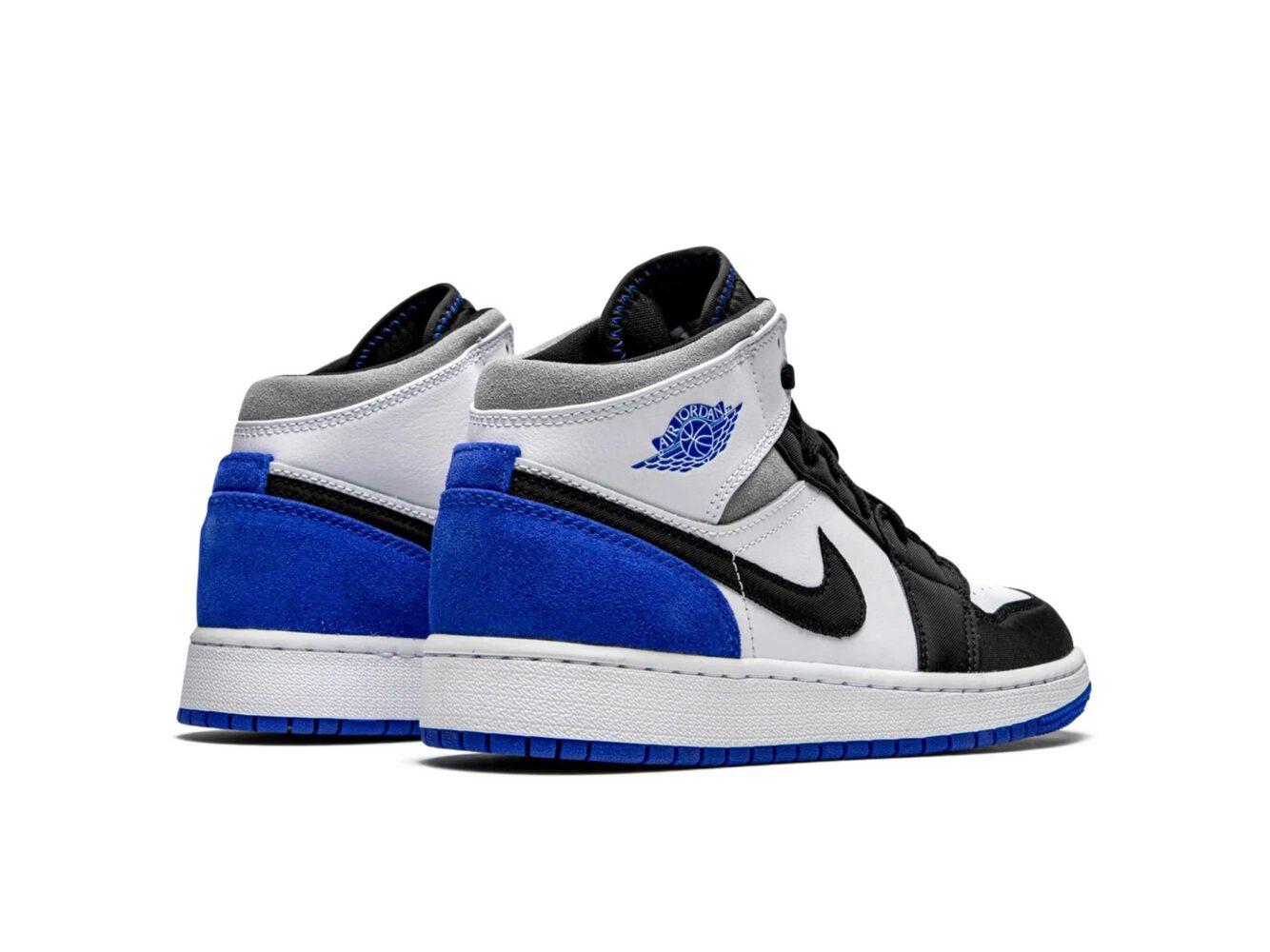 nike air Jordan 1 mid royal white BQ6931_102 купить