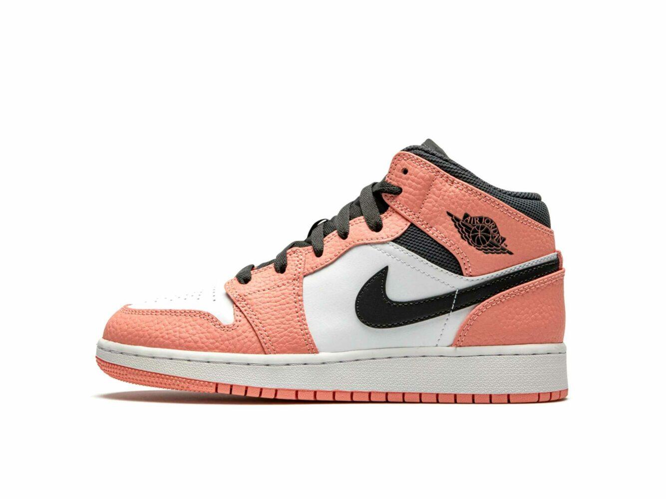 nike air jordan 1 mid GS pink quartz 555112_603 купить