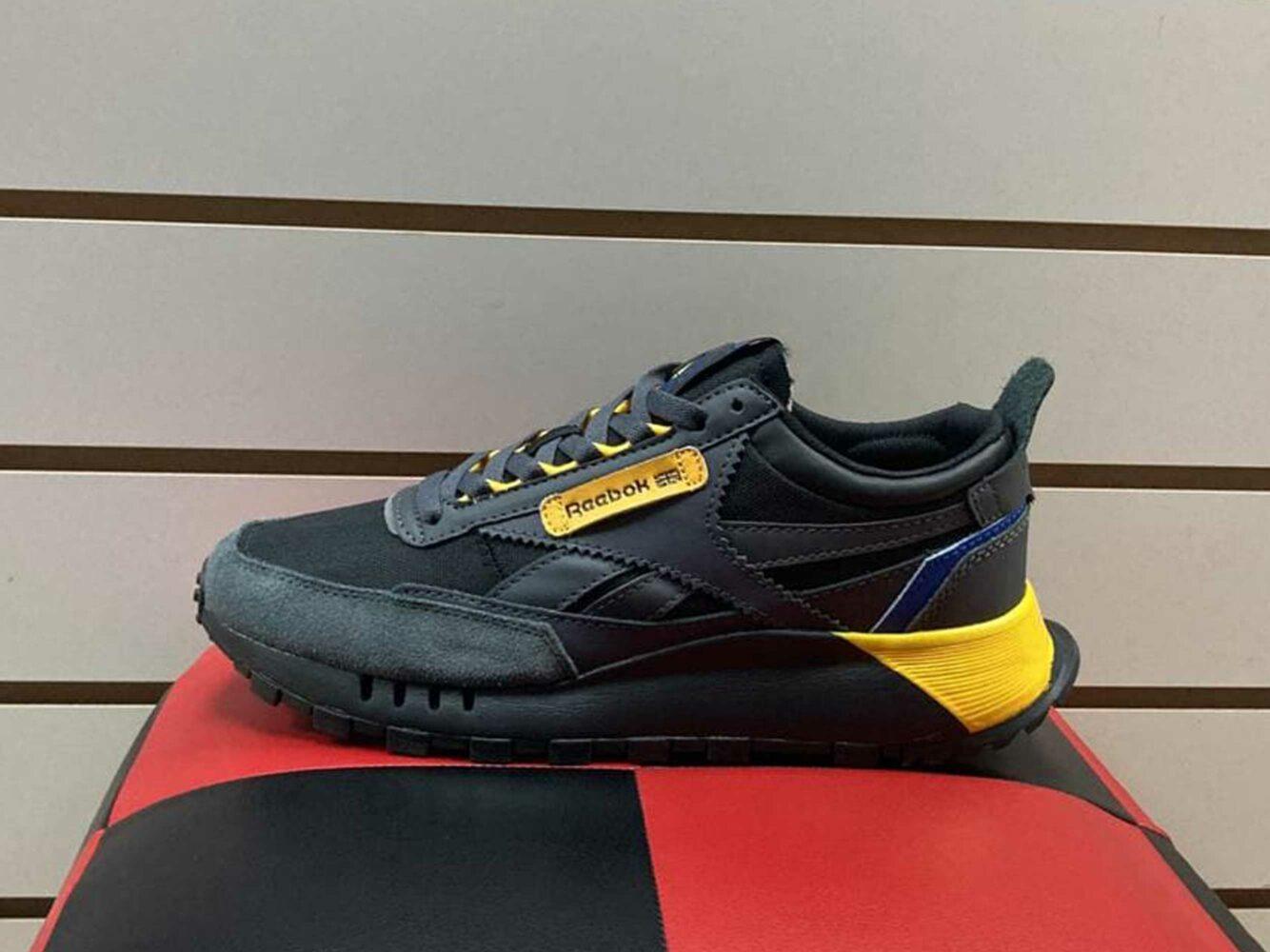 reebok classic leather legacy black yellow FY7439 купить
