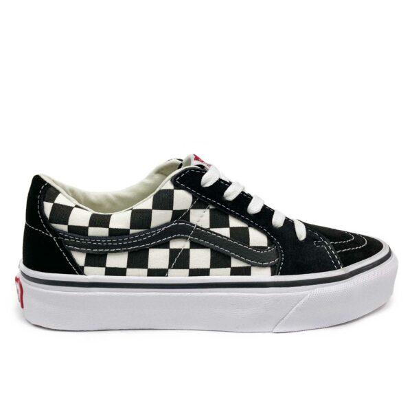 vans old skool checkerboard white black купить