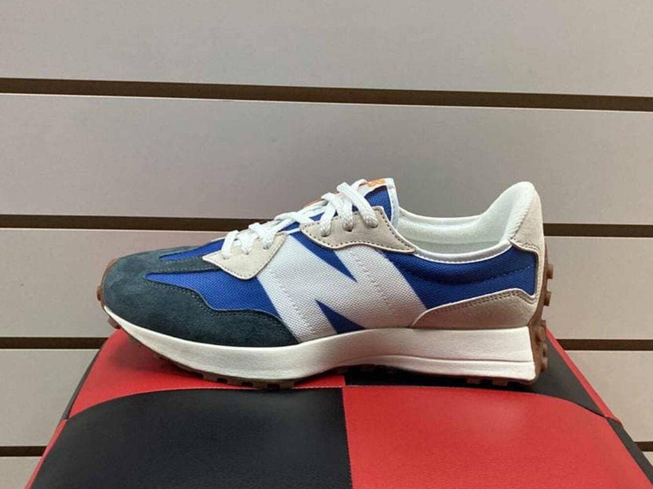 new balance 327 grey blue MS327COC купить